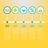 Graphic Set Finance Infographic Icon Business Concept. Flat Vector Illustration Royalty Free Stock Photo