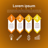 Graphic Set Finance Infographic Icon Business Concept. Flat Vector Illustration Stock Images