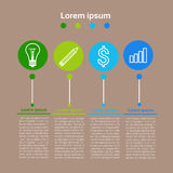 Graphic Set Finance Infographic Icon Business Concept. Flat Vector Illustration Stock Photography