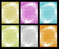Graphic set with frames flowers Royalty Free Stock Photo
