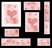 Graphic set with hearts royalty free stock images