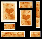 Graphic set with hearts Royalty Free Stock Photos