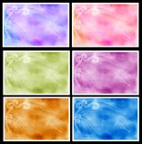 Graphic set with ribbons Royalty Free Stock Images