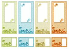 Graphic set whit daisies Royalty Free Stock Images