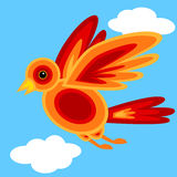 Graphic shape bird Stock Photography