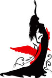 Graphic silhouette of a dancer woman Stock Photography