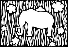 Graphic silhouette of an elephant Royalty Free Stock Photography
