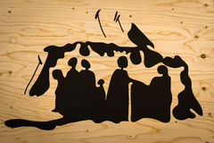 Graphic Silhouette: Family Unity Stock Photo