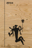 Graphic Silhouette Illustration: Man& x27;s Body and flowers Royalty Free Stock Photos