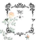 Floral black frame Royalty Free Stock Image