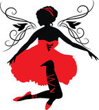 Graphic silhouette of a woman. Isabelle series Royalty Free Stock Photography