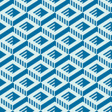 Graphic simple ornamental tile,  repeated pattern made usi Stock Photos