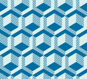 Graphic simple ornamental tile, vector repeated pattern made usi Royalty Free Stock Photography