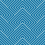 Graphic simple ornamental tile, vector repeated pattern. Made using squares and rhombuses. Vintage art abstract seamless texture can be used as wallpaper and in Royalty Free Stock Photo