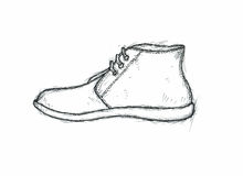 Graphic sketch of a boot Royalty Free Stock Photos