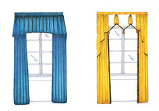 Graphic sketch, drapery, curtain Royalty Free Stock Photo
