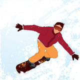 Graphic of snowboarder Royalty Free Stock Image