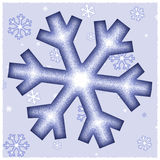 Graphic Snowflakes Stock Photo