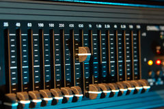Graphic sound equalizer Royalty Free Stock Photos