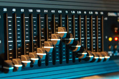 Graphic sound equalizer. Audio equalizer in color light Royalty Free Illustration