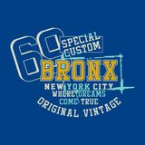 Graphic SPECIAL CUSTOM BRONX. Graphic design SPECIAL CUSTOM BRONX for shirt and print Stock Images