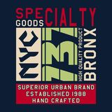 Graphic SPECIALTY GOODS NYC Royalty Free Stock Images