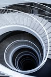 Graphic spiral stairs. With handrail Royalty Free Stock Photography