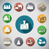 Graphic spot icon Royalty Free Stock Images