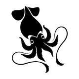 Graphic squid, vector Royalty Free Stock Photo