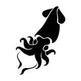 Graphic squid, vector Stock Photography