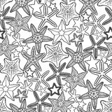 Graphic starfish seamless pattern Stock Photo