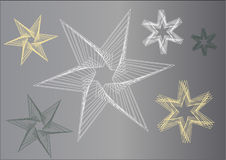 Graphic stars in grey color shades Stock Photography
