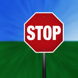 Graphic Stop Sign Stock Photo