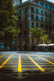 Graphic street of Barcelona. In Spain Stock Photos