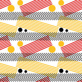 Graphic Stripes Seamless Pattern Royalty Free Stock Photo