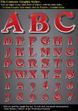 Graphic Style Letters Stock Photo