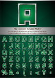 Graphic Style Letters Stock Photography