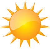Graphic of sun (Vector Available). Computer-generated graphic of yellow sun Stock Image