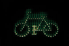 Graphic Symbol Schematic with Bicycle Stock Photos