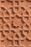 Graphic symbols, patterns and tracery in Agra Fort Stock Photography