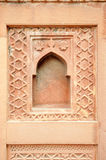 Graphic symbols, patterns and tracery in Agra Fort Royalty Free Stock Photos