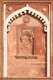 Graphic symbols, patterns and tracery in Agra Fort Stock Photos