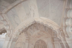 Graphic symbols, patterns and tracery in Agra Fort Royalty Free Stock Photography