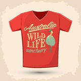 Graphic T- shirt design - Australian Wild Life sanctuary Stock Images