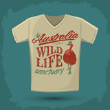Graphic T- shirt design - Australian Wild Life sanctuary Stock Photos
