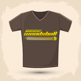 Graphic T- shirt design - Born to play woodsball Stock Image