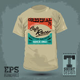 Graphic T- shirt design - Cafe Racer vector emblem Royalty Free Stock Image
