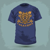 Graphic T- shirt design - Calavera Stock Image