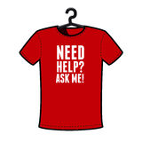 Graphic T-shirt design - Need help?. Ask me Royalty Free Stock Photo