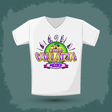 Graphic T- shirt design - Puerto Vallarta Mexico Royalty Free Stock Images